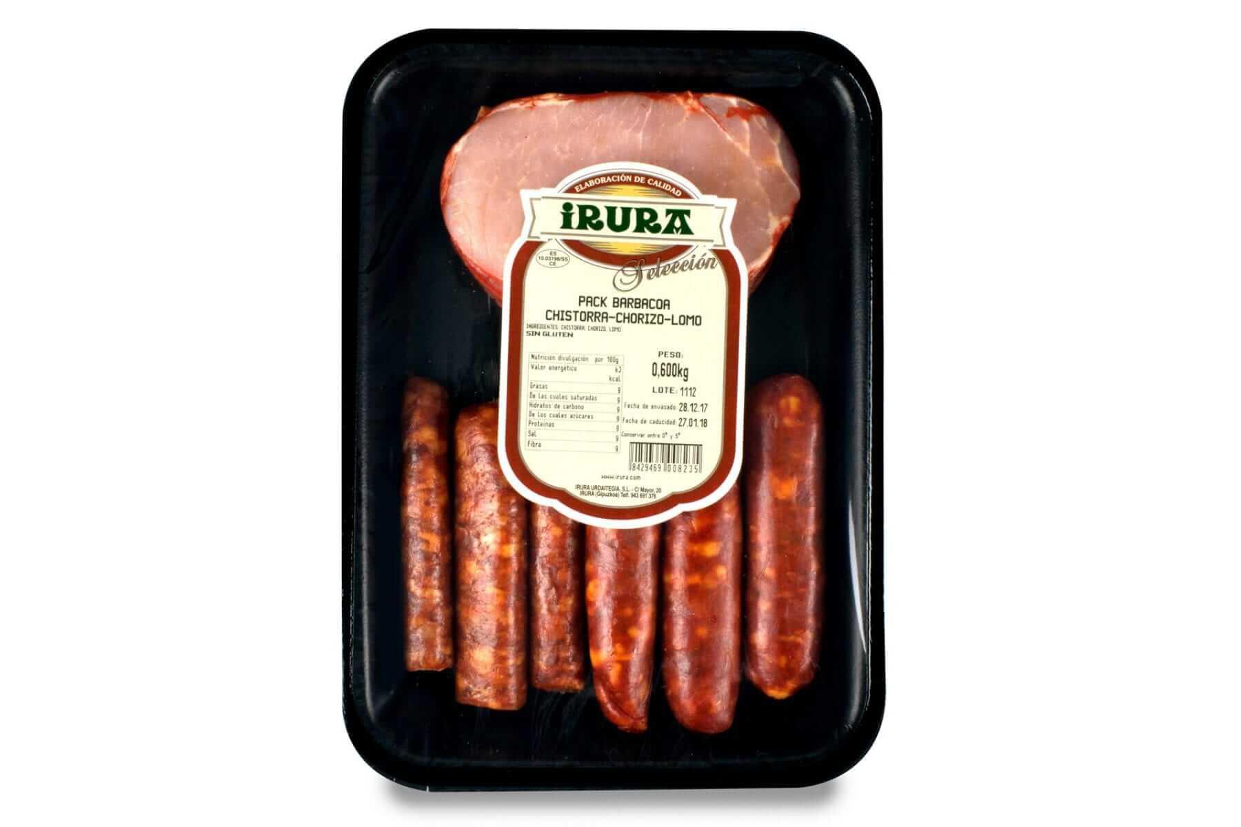 Pack de carnes para barbacoa: chistorras, chorizod y lomos