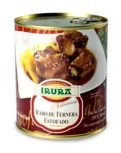 Rabo de ternera estofado en conserva Irura Selección